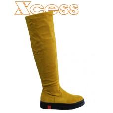 5266-4 Жълт велур